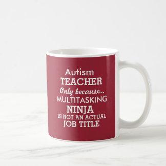 Lustiger AutismusSpecial benötigt Lehrer Kaffeetasse