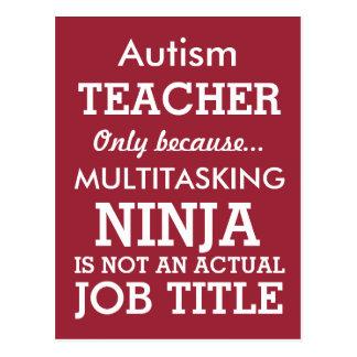 Lustiger AutismusSpecial benötigt Lehrer Postkarte