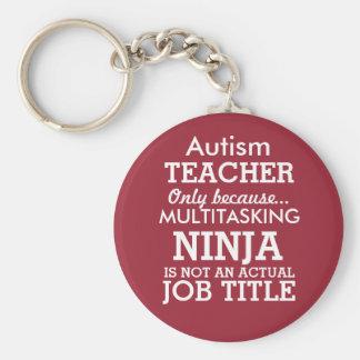 Lustiger AutismusSpecial benötigt Lehrer Standard Runder Schlüsselanhänger