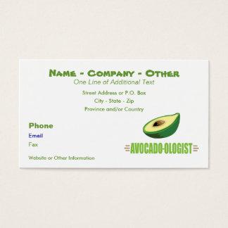 Lustiger Avocado-Liebhaber Visitenkarte