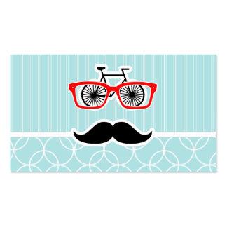 Lustiger Baby-Blau-Hipster-Schnurrbart Visitenkarte