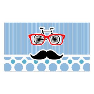 Lustiger Baby-Blau-Schnurrbart; Hipster Visitenkartenvorlage