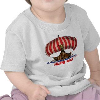 Lustiger Baby-T - Shirt Wikinger-Schiffs