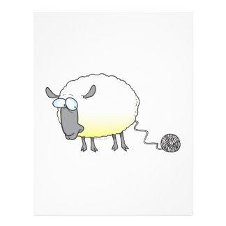 lustiger Ball des Garn geklonten Schaf-Cartoon Flyerdruck