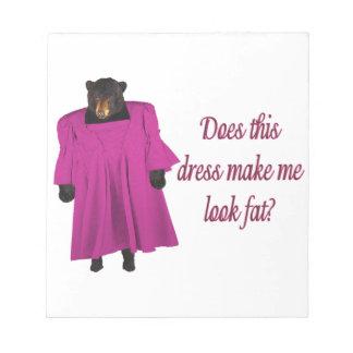 Lustiger Bär im Kleid Notizblock