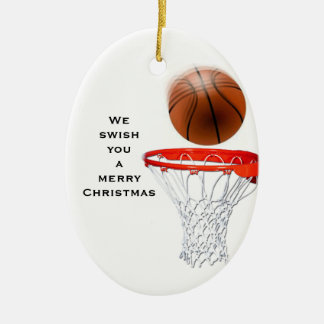 Lustiger Basketball Keramik Ornament