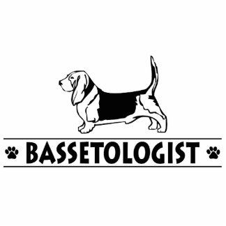 Lustiger Basset-Jagdhund Photo Skulpturen
