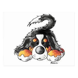Lustiger Bernese GebirgshundeCartoon Postkarte