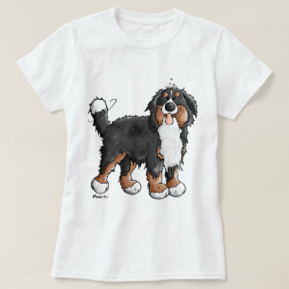 Lustiger Bernese GebirgshundeCartoon T-Shirt