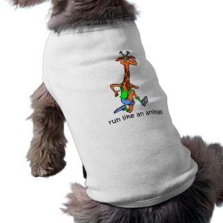 Lustiger Betrieb Ärmelfreies Hunde-Shirt