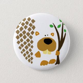 Lustiger Biber-abstrakte Kunst Runder Button 5,7 Cm