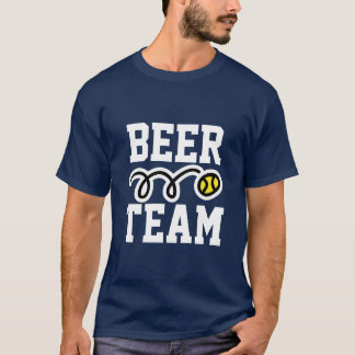"Lustiger ""Bier-Team"" Tennis-T - Shirt"
