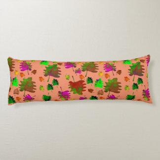 Lustiger Blätter Watercolor Seitenschläferkissen