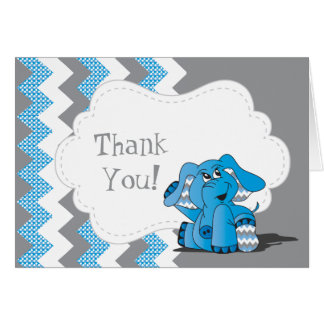 Lustiger blauer Zickzack alberner Elefant Karte
