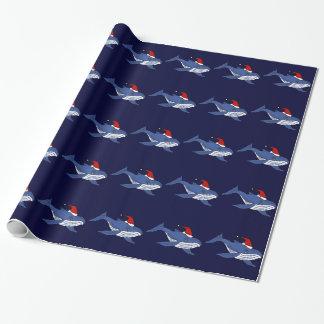 Lustiger Blauwal in der Geschenkpapier