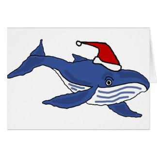 Lustiger Blauwal in der Grußkarte