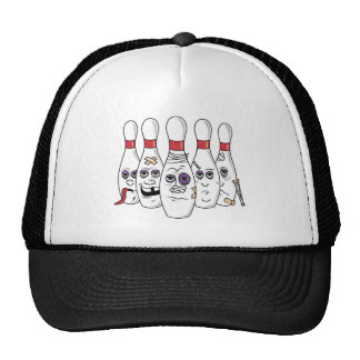 Lustiger Bowlings-Hut Retromützen