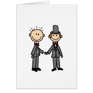 Lustiger Bräutigam-homosexuelle Heirat-Cartoon Grußkarte