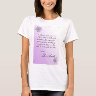 Lustiger Brautvertrags-T - Shirt, Lavendel mit T-Shirt