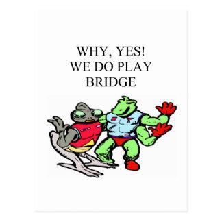 lustiger Bridge-Spieler Entwurf Postkarte