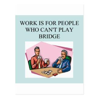 lustiger Bridge-Spieler Witzentwurf Postkarte