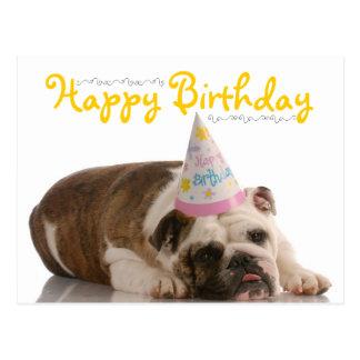 Lustiger Bulldoggen-Geburtstag Postkarte