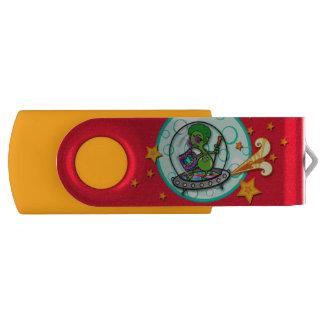 LUSTIGER CARTOON-ALIEN-SCHWENKER-BLITZ-ANTRIEB USB STICK