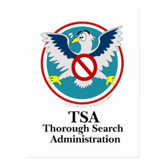 Lustiger Cartoon des Adler-TSA (Touch mein Kram) Postkarte