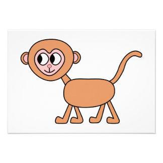 Lustiger Cartoon eines Affen Ankündigungskarte