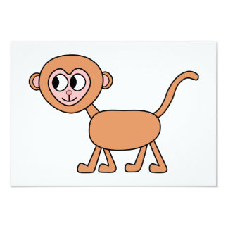 Lustiger Cartoon eines Affen 8,9 X 12,7 Cm Einladungskarte
