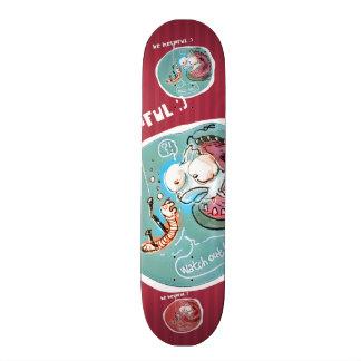 lustiger Cartoon hilfreichen fishbait Regenwurms Skateboard Deck