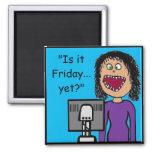Lustiger Cartoon-kanzleimäßiger Büro Humor Kühlschrankmagnete