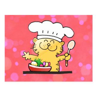 Lustiger Cartoon| lustiger Kitty-Koch Postkarte