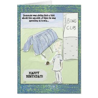 Lustiger Cartoon rollt Geburtstags-Karte Karte