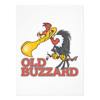 lustiger Cartooncharakter des alten Bussards Individuelle Einladungskarte