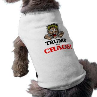 lustiger Chaos-Trumpf Ärmelfreies Hunde-Shirt