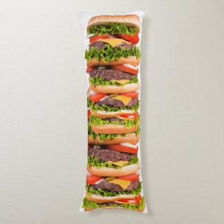 Lustiger Cheeseburger-Stapel Seitenschläferkissen