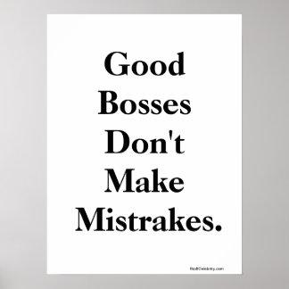 Lustiger Chef zitieren und geistreiche Wörter von  Poster