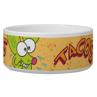 Lustiger Chicochihuahua-Cartoon Tacos Napf