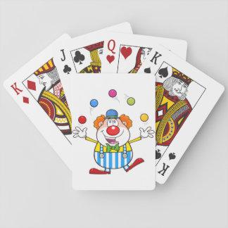 Lustiger Clown-jonglierende Spielkarten