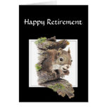 Lustiger Co-Arbeitskraft Ruhestand, Eichhörnchen, Karten
