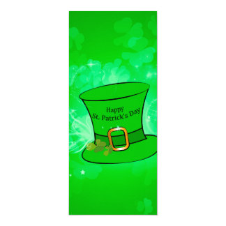 Lustiger, cooler St Patrick Tageshut 10,2 X 23,5 Cm Einladungskarte