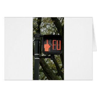 Lustiger Crosswalk sagt FU Karte