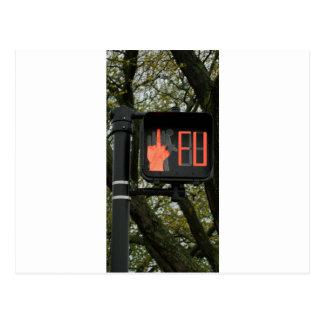 Lustiger Crosswalk sagt FU Postkarte