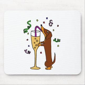 Lustiger Dackel-HundeParty-Cartoon Mousepad