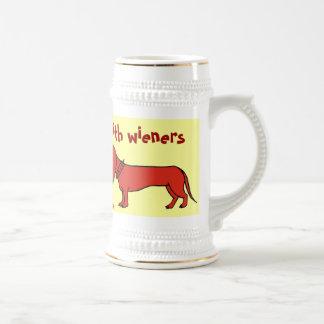 Lustiger Dackelhundebier-Tassenentwurf Bierglas