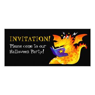 Lustiger das Halloween-Drache des Kindes Personalisierte Einladung