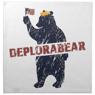 Lustiger Deplorabear Trumpf Amerika Serviette