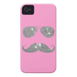 Lustiger Diamant-Schnurrbart mit Gläsern Case-Mate iPhone 4 Hüllen