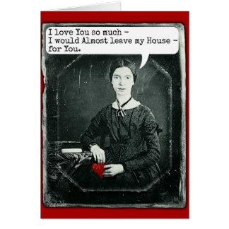 Lustiger Dichter-Emily Dickinson-Valentinstag Karte